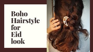 Boho Hairstyle | Hairstyle For EID Festival | Easy And Quick Hairstyle | Hair French Braid |
