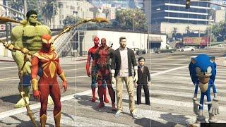 GTA 5 Messi Mod - Lionel Messi và Biệt Đội Người Nhện (Spiderman)