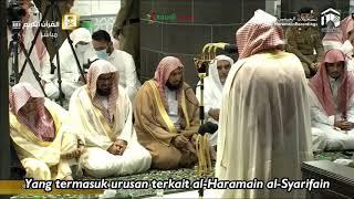 Suasana Tarawih Pertama Pesan Syaikh Sudais di Masjidil Haram