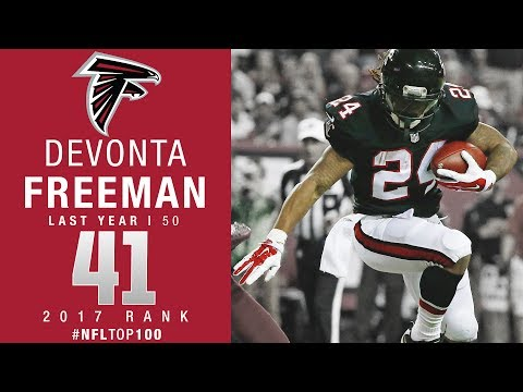 #41: Devonta Freeman (RB, Falcons) | Top 100 Players of 2017 | NFL
