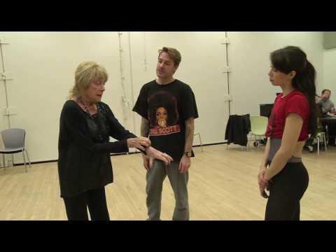 Georgina Pazcoguin rehearsing the