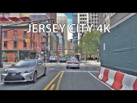 Video Driving Downtown - Jersey City New Jersey USA