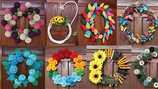 Home Decorating Ideas Handmade, 12 Wreath Craft Ideas, Door Decoration