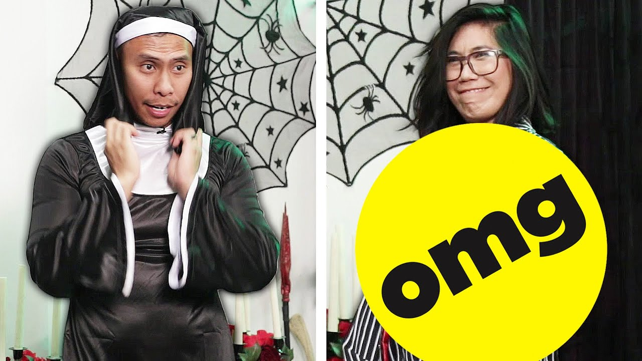 Couple Swaps Men And Women's Halloween Costumes thumbnail