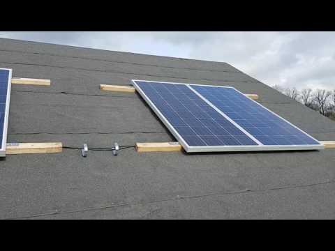 Meine Solar Inselanlage im Garten www.solar-insel-anlage.de
