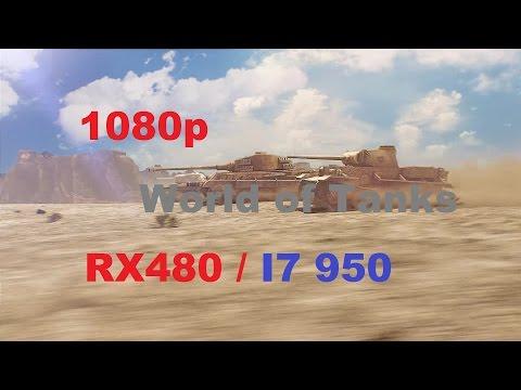 World of Tanks : i7 950 4Ghz / RX 480 / Frame rate test