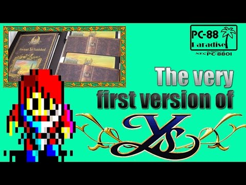 The Very First Version of Ys (PC-88 Paradise)