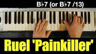 Ruel 'Painkiller' | Chords On Piano