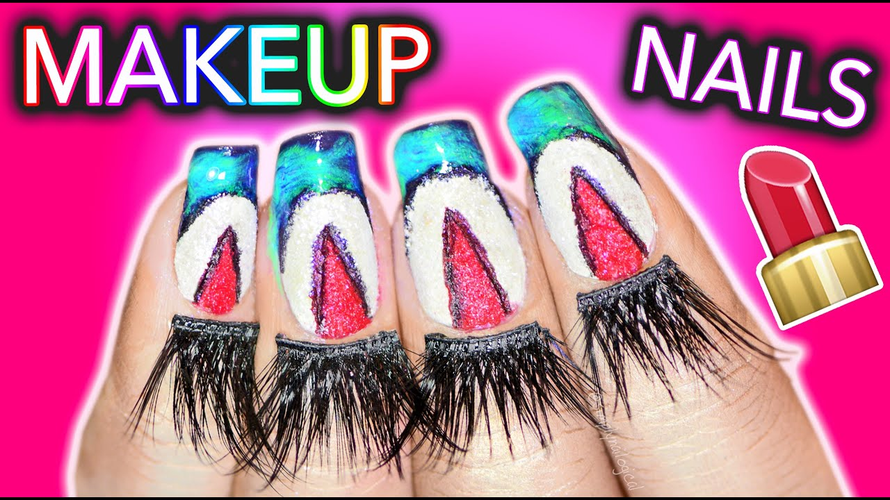 Full Manicure Using ONLY MAKEUP CHALLENGE BETCH thumbnail