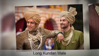 Groom Accessories 2020 - Turban, Brooch, Pearl Sherwani Mala, Sword, Kada | Mens Wedding Accessories