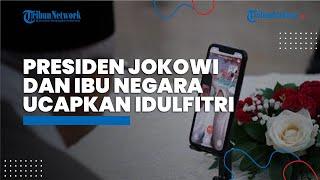 Presiden Jokowi dan Ibu Negara Iriana Silaturahmi Virtual: ''Pak Wapres, Bu Wury Selamat Idulfitri''
