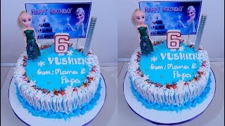 BASIC FROZEN CAKE DESIGN STEP BY STEP