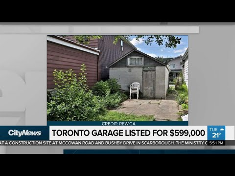 Toronto garage on sale for around $600K, and other business news