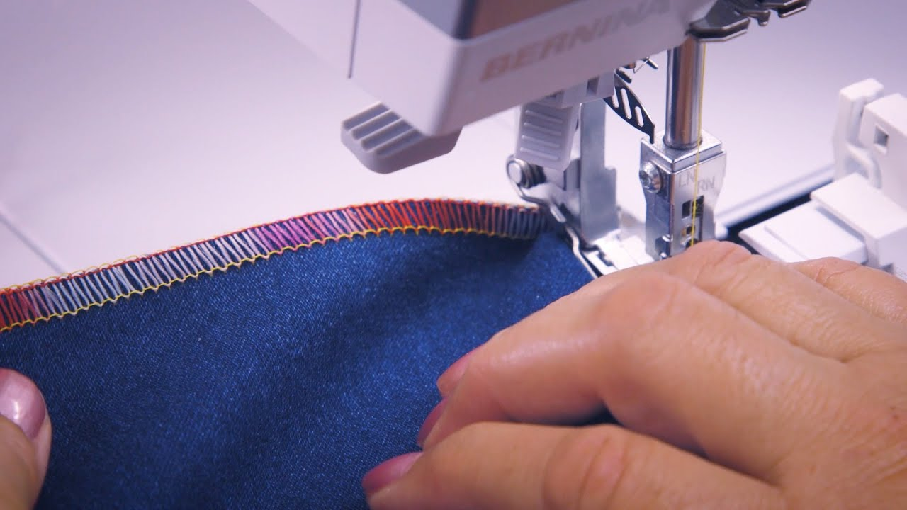 L 860 Overlocker: How to Thread an Overlock Stitch in Guided Mode