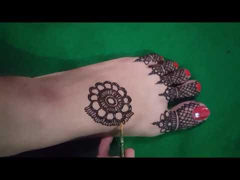 Simple Foot Mehndi Design 2018 Easy Foot Mehndi