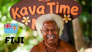 FIJI, ENJOYING a KAVA DRINKING PARTY - fun, friends and memories in WAILOALOA BEACH