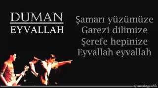 Duman - Eyvallah | Şarkı Sözleriyle