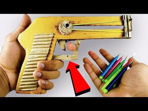 How to make Pistol Toy GUN from cardboard DIY that Shoots Bullets at Home