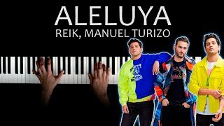 Reik, Manuel Turizo   Aleluya   Piano Tutorial Cover + Letra Karaoke