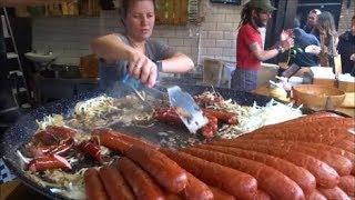 HOT DOG, SAUSAGE, POLISH KIELBASA, HOT DOG SANDWICH, LONDON STREET FOOD,