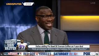 UNDISPUTED | Skip Bayless react to Cowboys adding Pro Bowl DE Ecerson Griffen on 1-year deal