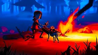 a girl and a dog survive in a flood  | The Flame in the Flood