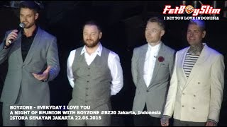 BOYZONE - TALK / EVERYDAY I LOVE YOU Live In Jakarta, Indonesia 2015