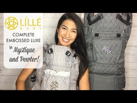 The BEST baby carriers ever! Review of LILLEbaby Complete Embossed in Mystique and Pewter!