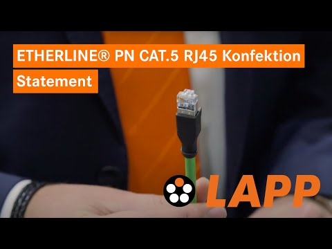 Das Cat5 Kabel ETHERLINE® PN Cat.5 RJ45 Konfektion - Statement