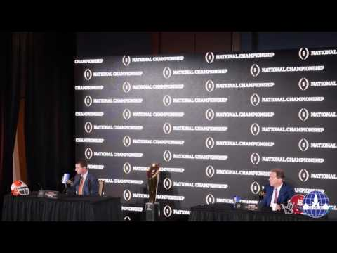 2017 National Championship Joint Presser With Head Coaches Nick Saban & Dabo Swinney
