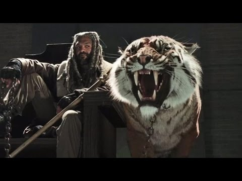 King Ezekiel Being British on the Talking Dead - Khary Payton plus Carol's irony moment from TWD