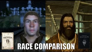 Oblivion vs. Skyrim Races comparison.