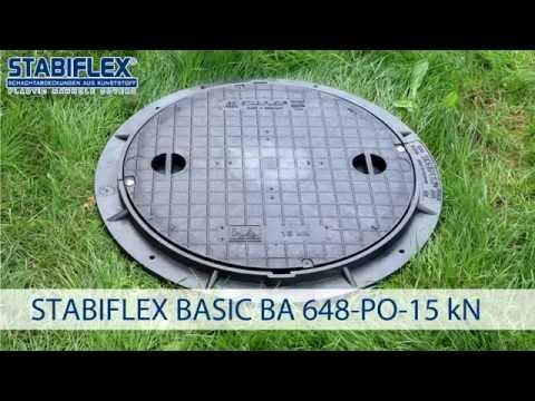 Schachtabdeckung STABIFLEX BASIC DN 600 A 15 kN Einbaufilm