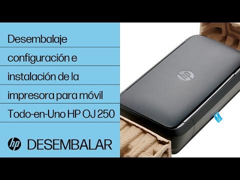 Desembalaje, configuración e instalación de la impresora para móvil Todo-en-Uno HP OfficeJet 250