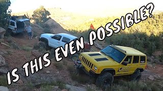 You took your Jeep where? (2 Jeeps, 1 Tacoma, 1 major trail repair)