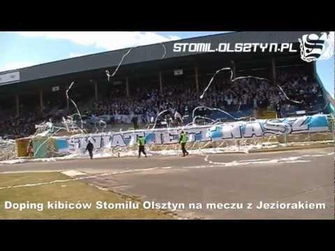 Doping na meczu Stomil Olsztyn - Jeziorak Iława
