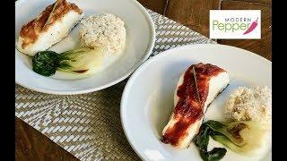 How To Make Seabass (sea bass) w/ Miso Glaze & Spicy GoChuJang Glaze - Modern Pepper Recipe #1