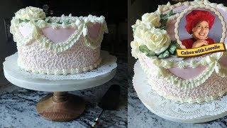 Old School Cake Decorating 🎀 Cornelli Lace And Buttercream Bows 🎀 Cakes With Lorelie
