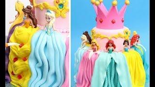 Princess Dresses Cake Idea By Cakes StepbyStep