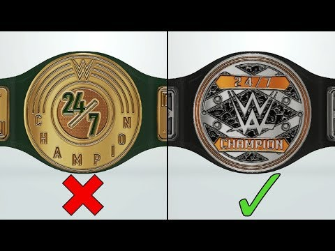 Mind blowing WWE 24/7 Title redesigns in WWE 2K19