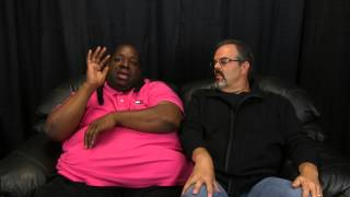 Greg's Big Black Couch with Bruce Bruce
