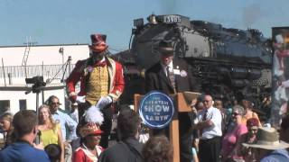 Worlds Longest Circus Train Pulled By Steam Arrives