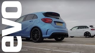 Mercedes A45 AMG vs Audi RS3 - Which is fastest? | evo DRAG BATTLE by EVO Magazine