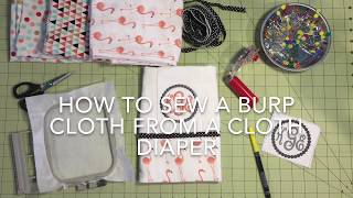 Clean Finish! Embroidered Burp Cloth From A Diaper