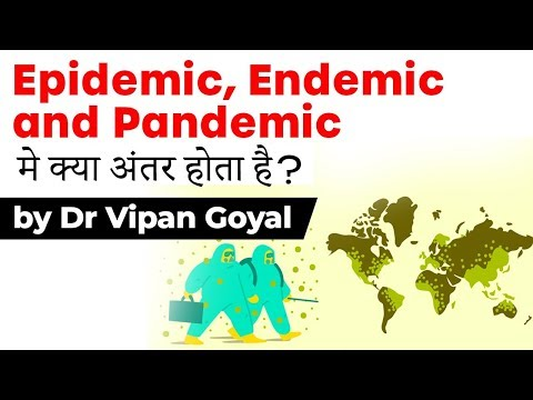 What is the difference between Endemic, Epidemic and Pandemic Disease l Dr Vipan Goyal I Study IQ