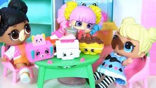 Куклы Лол Сюрприз! Путешествие в мир Шопкинс Lol мультик! Видео для детей Shopkins