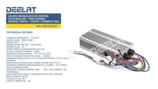48-60V Brushless DC Motor Controller - 1500-2000W, MOSfet 24pcs - Const. Current 80A