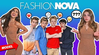 My CRUSH Reacts To Fashion Nova INSTAGRAM Model **Who Wore It Better CHALLENGE**🍑| Piper Rockelle