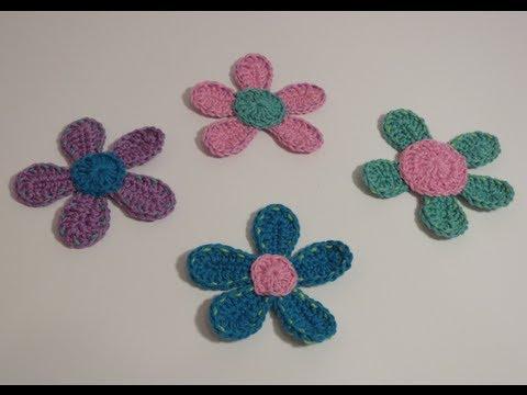 , title : 'كروشيه وردة Crochet Flower 5'