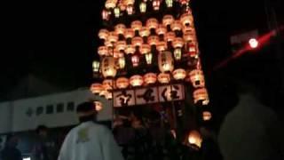 2010春の犬山祭本町交差点熊野町90度どんでん
